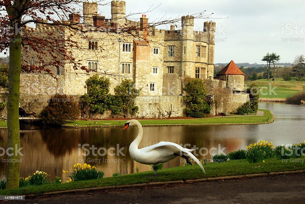 English Castle in Spring stock photo