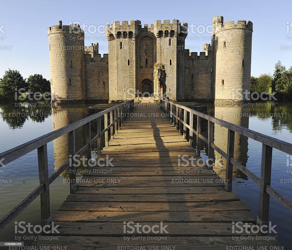 English Castle stock photo