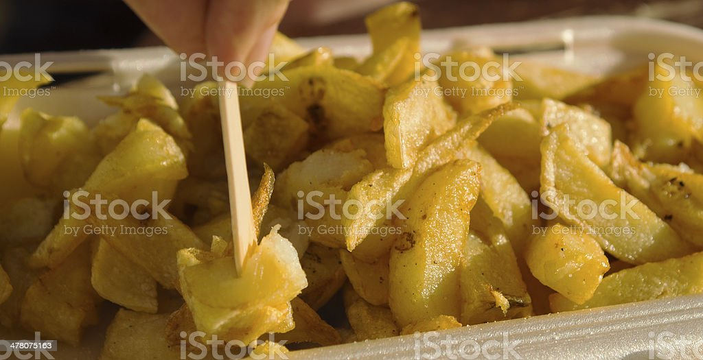 English Chips from a takeaway stock photo