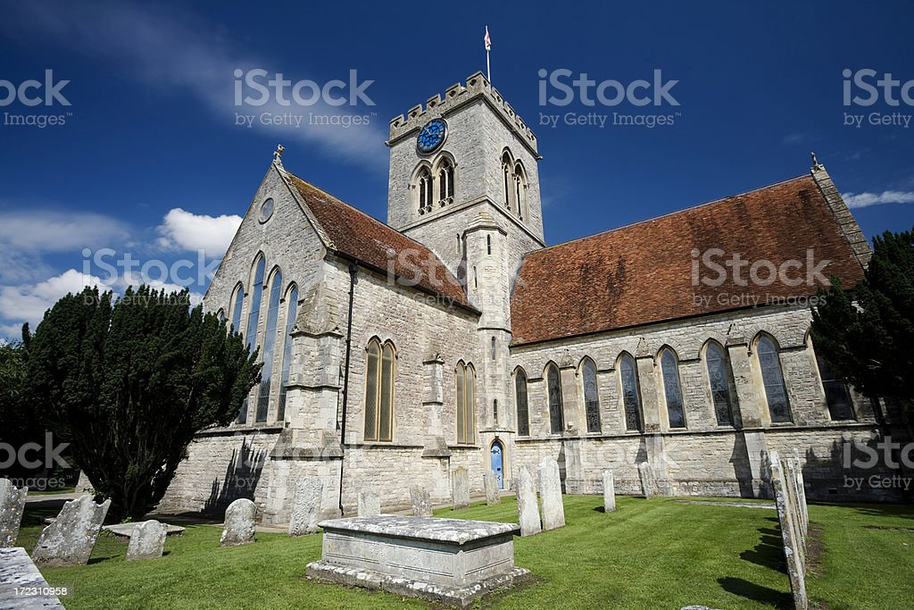 English Church at Ringwood stock photo