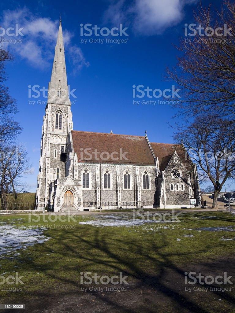 English church in Copenhagen royalty-free stock photo