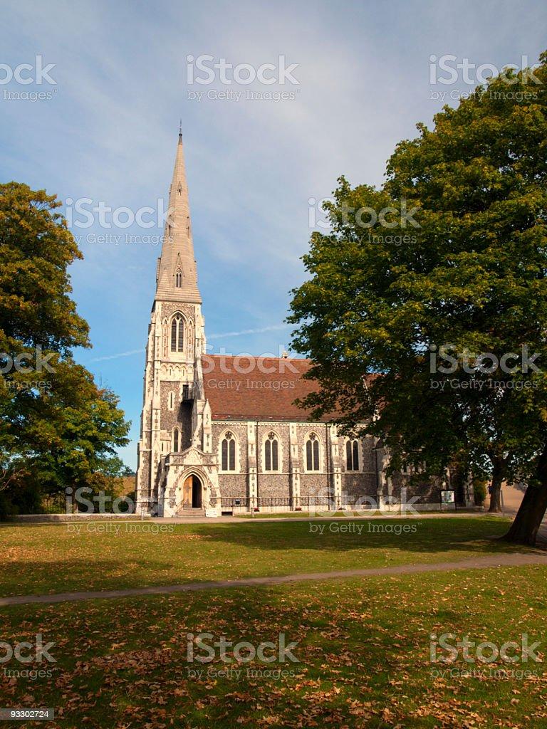 English Church in Copenhagen stock photo