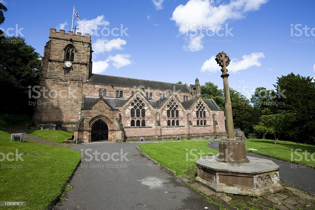 English Church in the Midlands stock photo