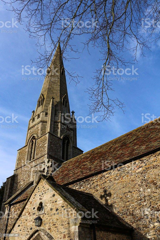 English Church Spire stock photo