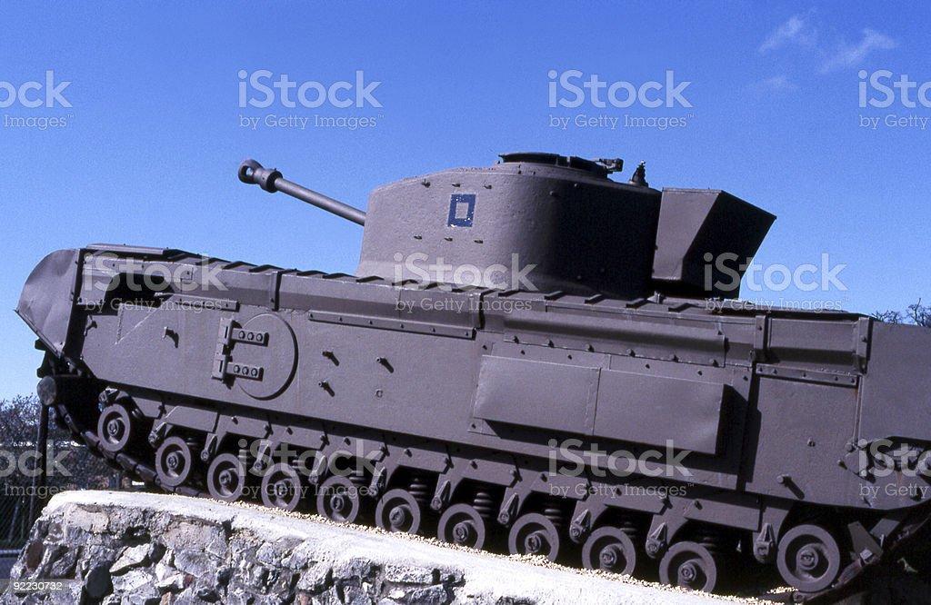 English Churchill Tank royalty-free stock photo