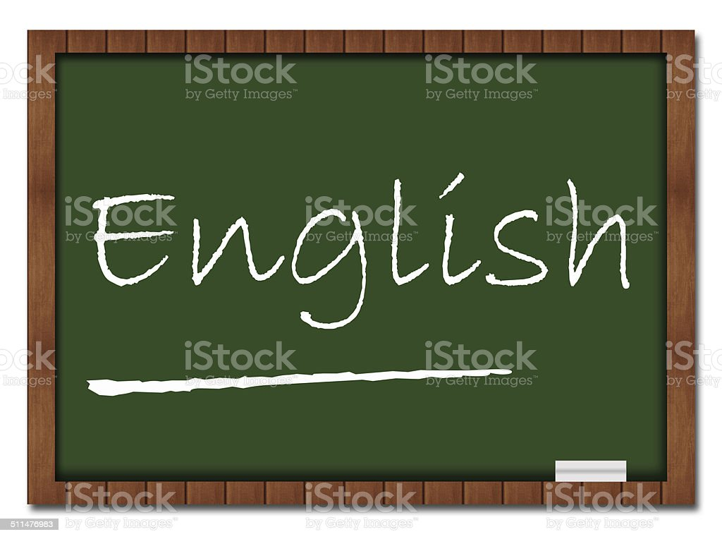 English - Classroom Board stock photo