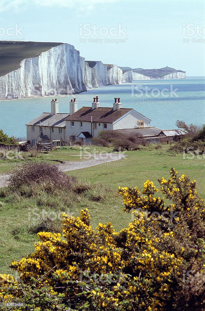 English coast stock photo