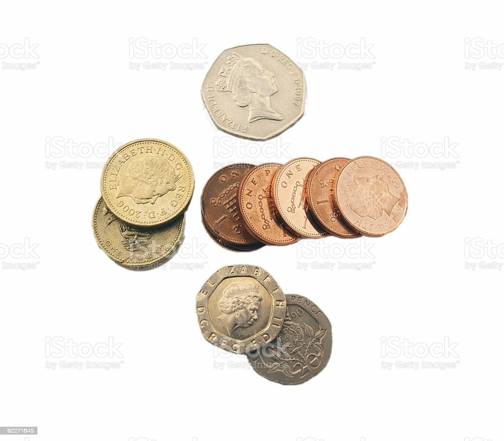 English coins royalty-free stock photo