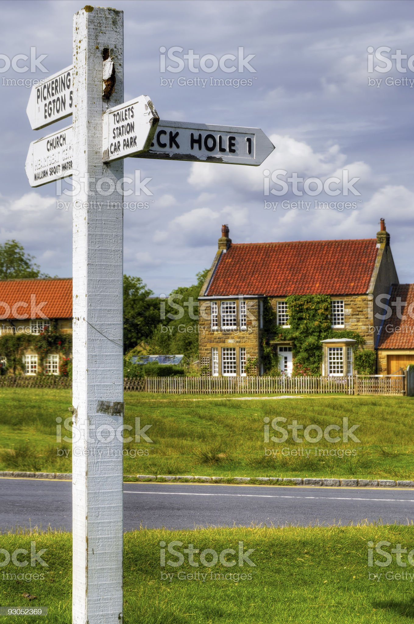 English cottage and street royalty-free stock photo
