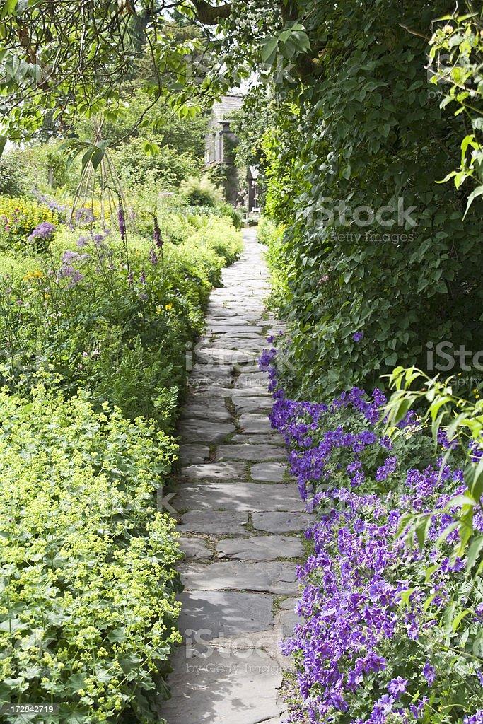 English Cottage Garden stock photo