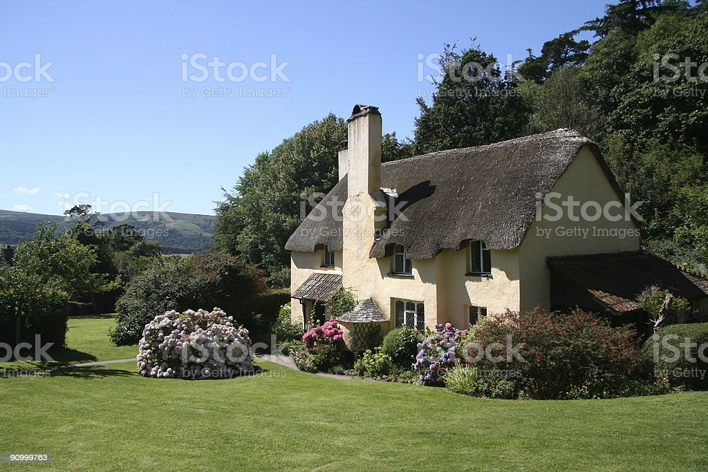 English cottage in the country stock photo
