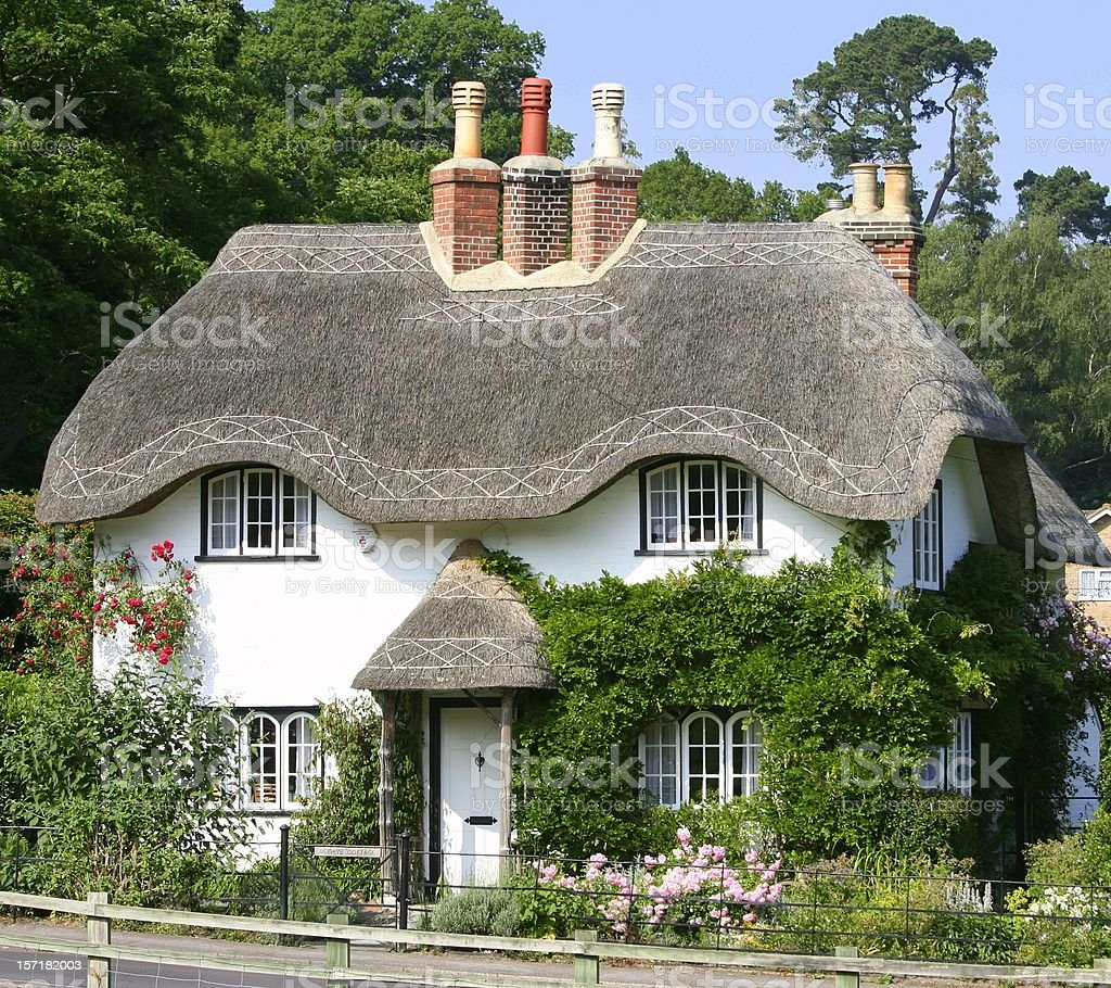 English cottage stock photo