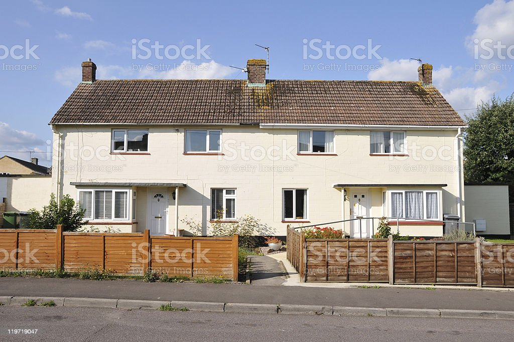 English Council Houses royalty-free stock photo