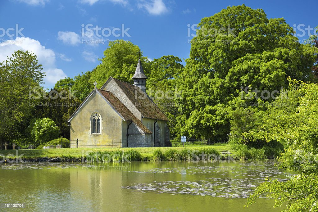 English Country Church royalty-free stock photo