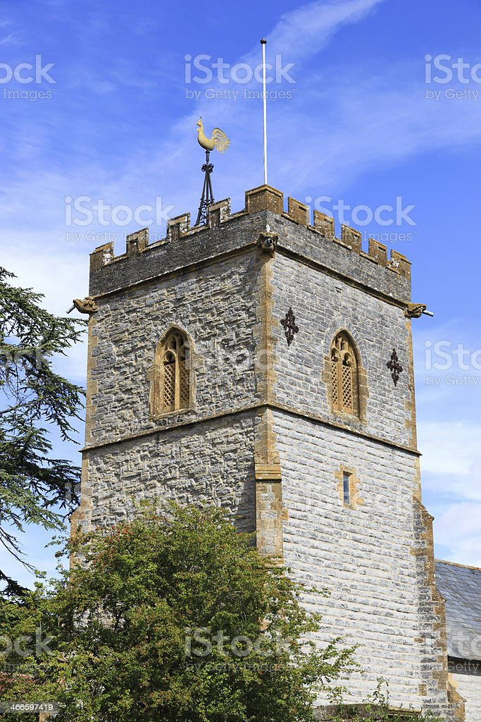 English Country Church Tower royalty-free stock photo