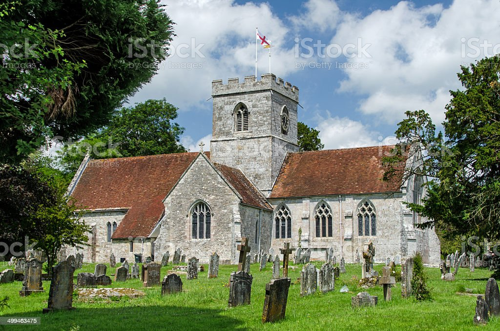 English Country churchyard stock photo