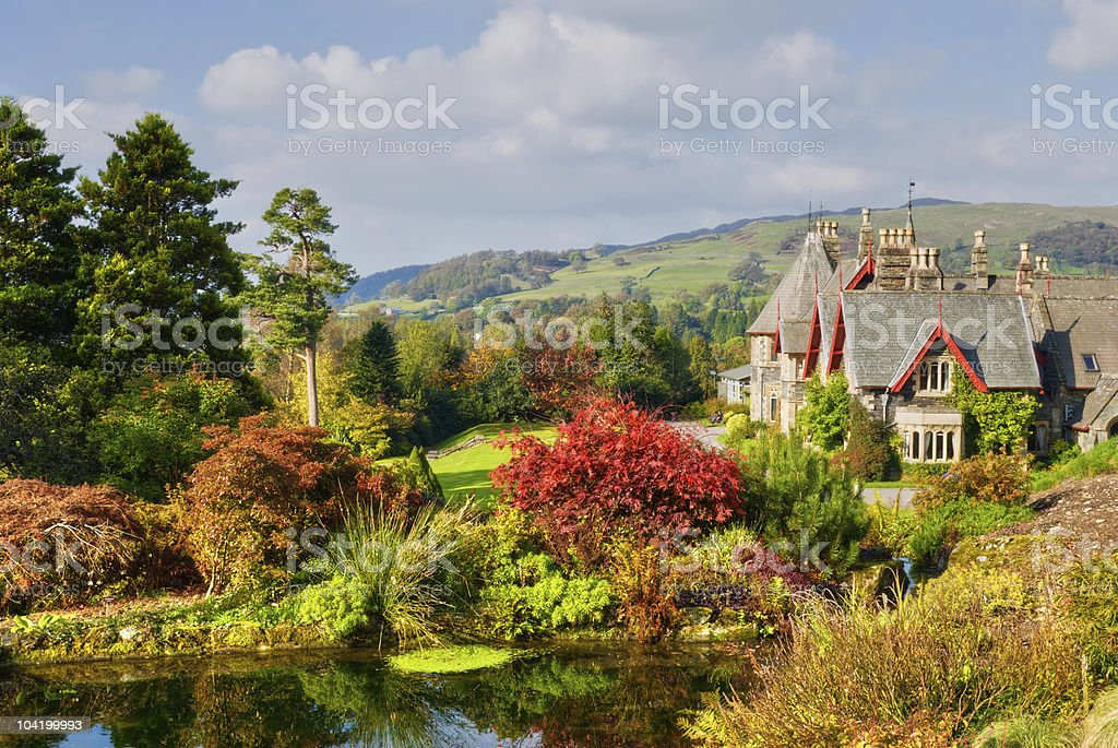 English Country Estate in Autumn royalty-free stock photo