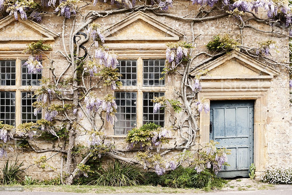 English country house doorway stock photo