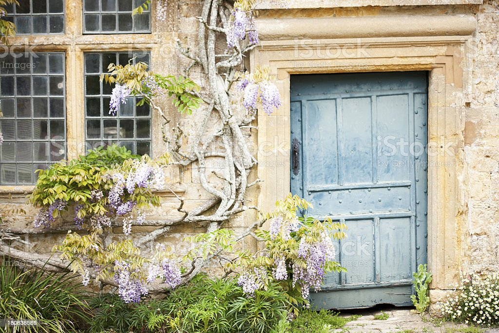English country house doorway stock photo