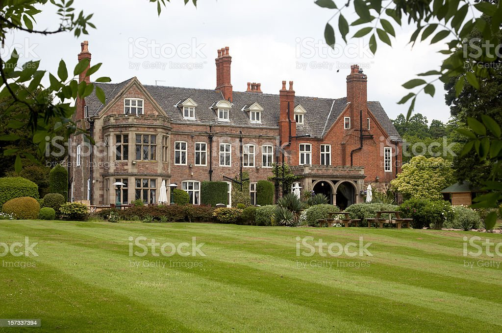 English country mansion stock photo