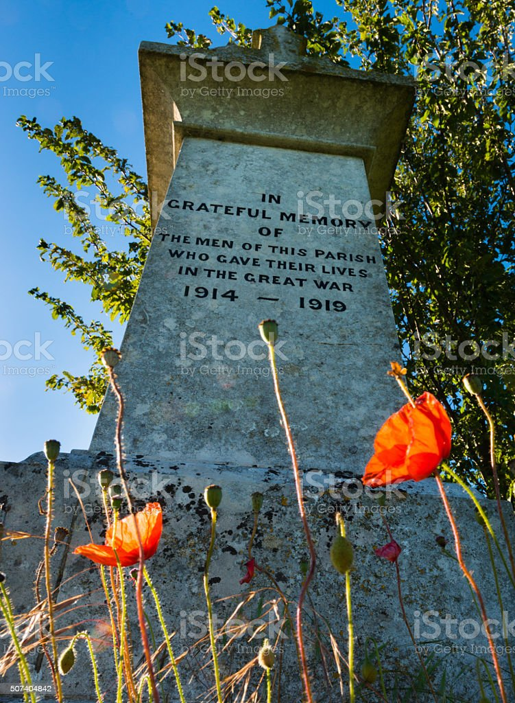 English Country Parish Remembers the Fallen stock photo