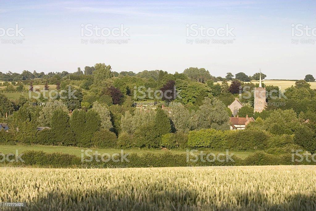 English Country Village stock photo