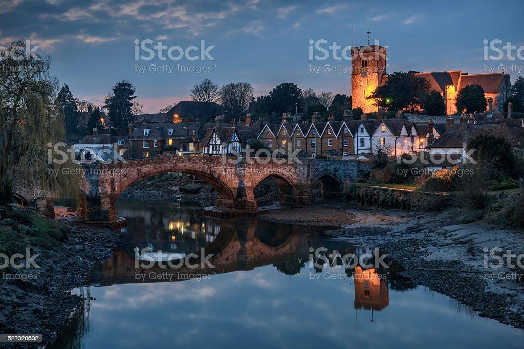 English countryside at night stock photo