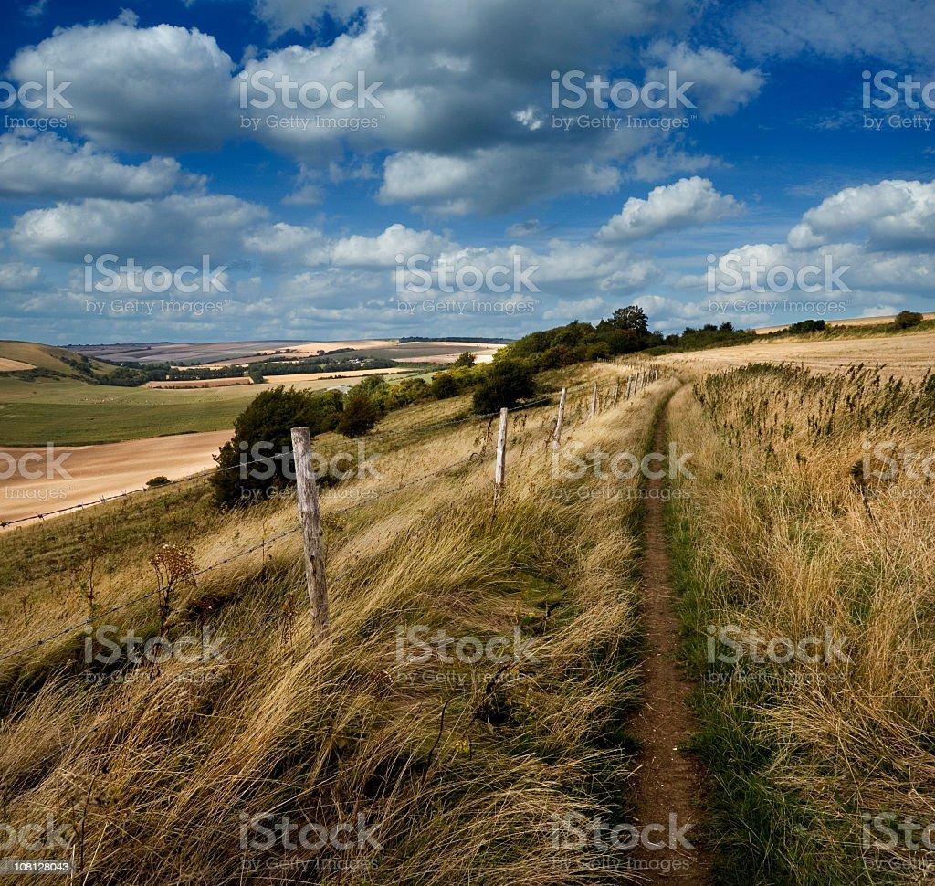 English Countryside Chalk Landscape stock photo
