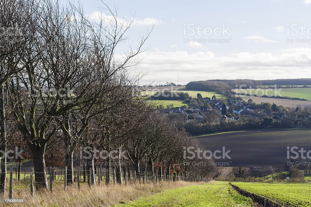 english countryside darent valley eynsford kent uk stock photo