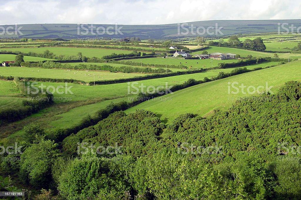 English countryside, Exmoor National Park royalty-free stock photo