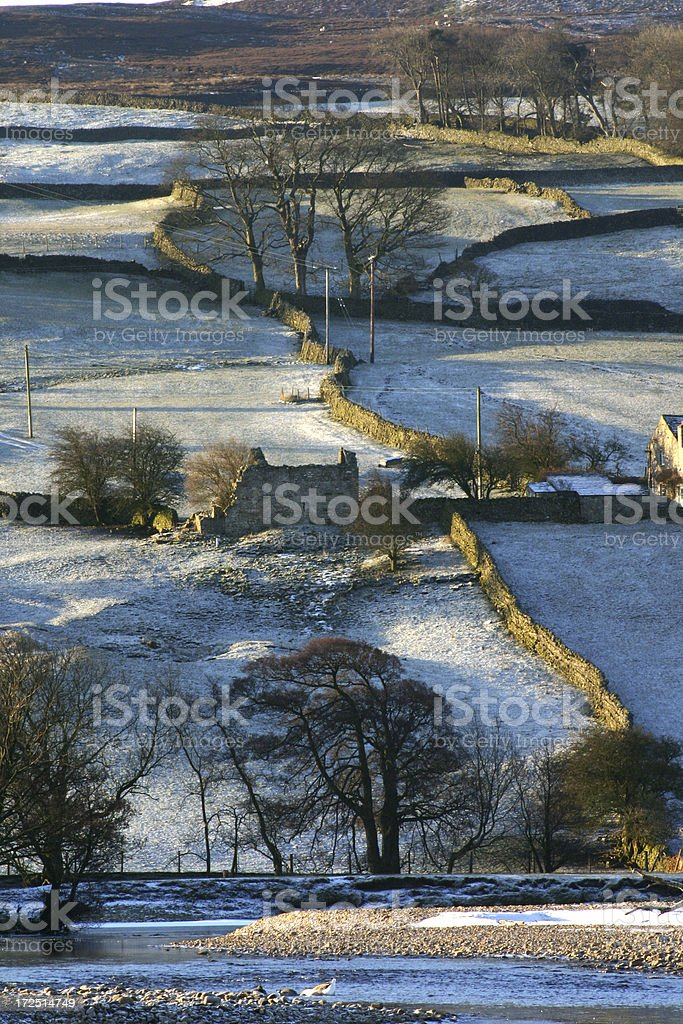 English countryside in winter, Yorkshire royalty-free stock photo