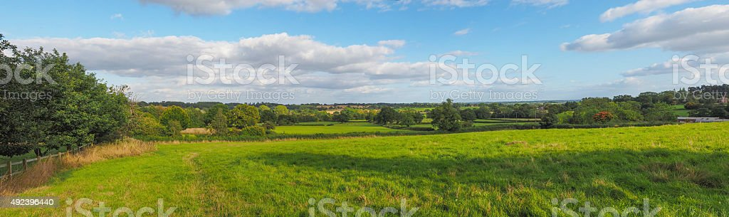 English countryside of Tanworth in Arden stock photo