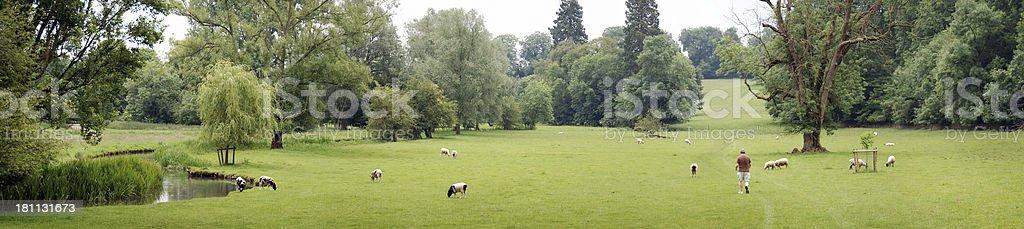 English countryside panorama royalty-free stock photo