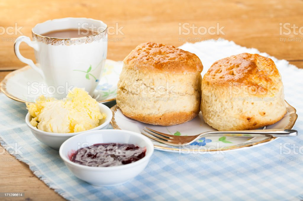 English Cream Tea royalty-free stock photo