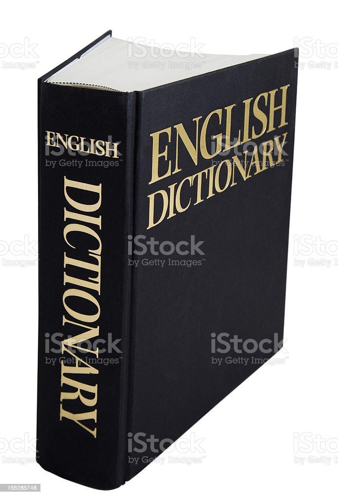 English Dictionary stock photo