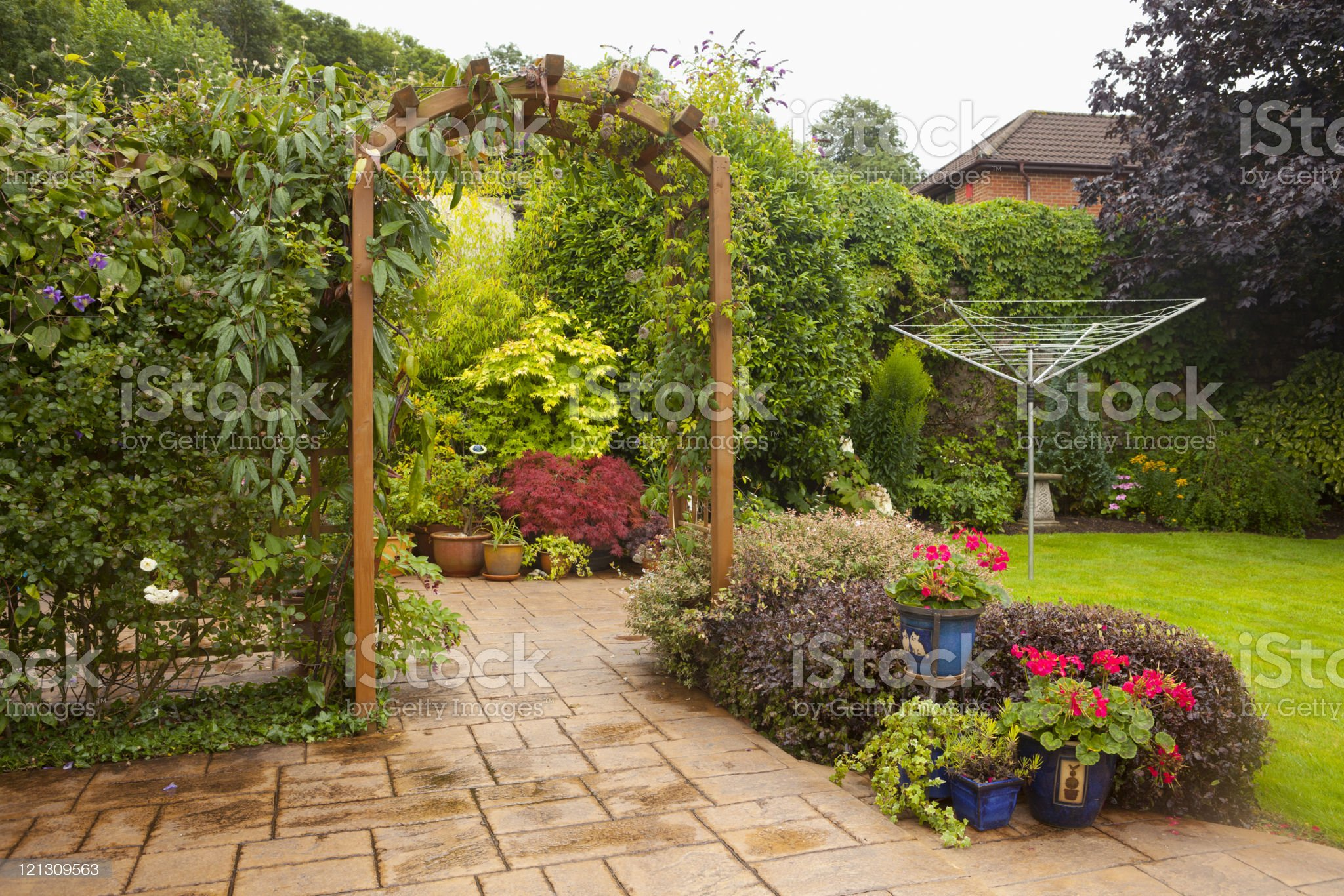 English Domestic Garden royalty-free stock photo