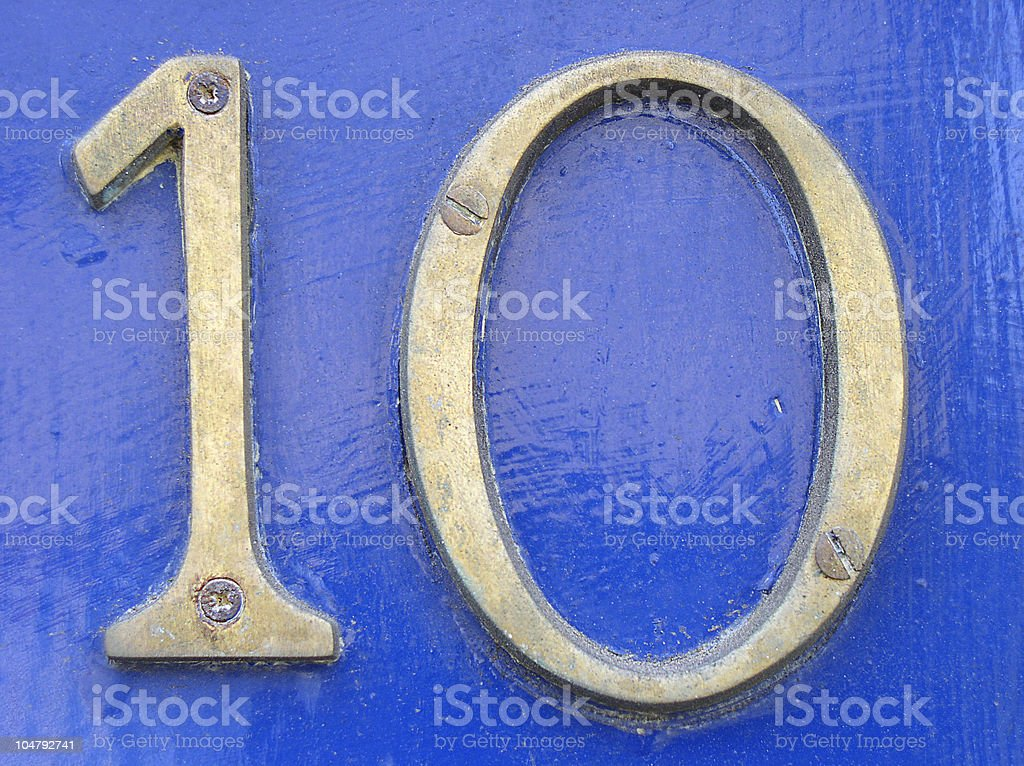 English door number royalty-free stock photo