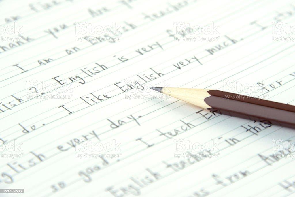 English education concepts, I like Englsih stock photo
