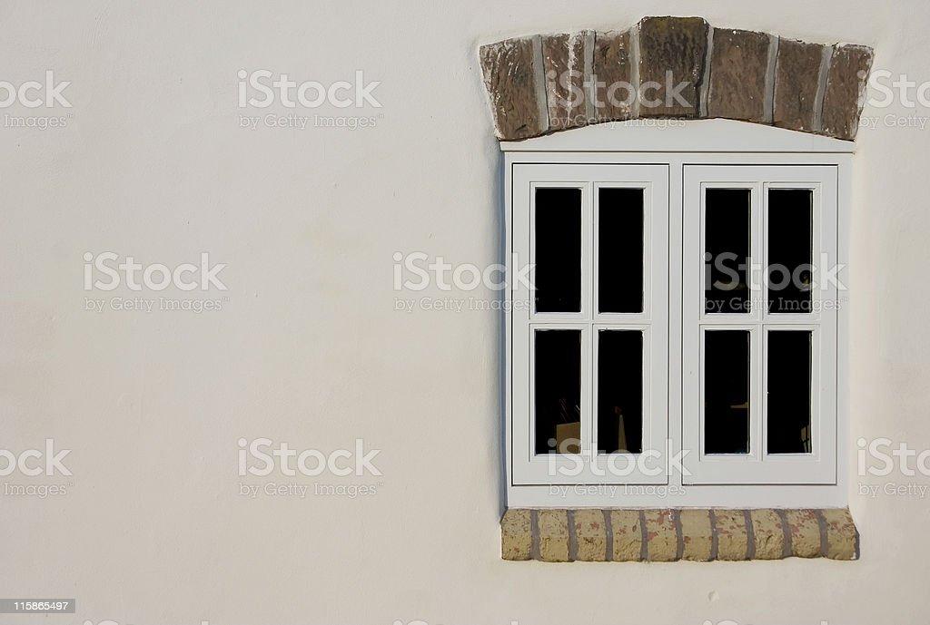 English farmhouse window with copyspace royalty-free stock photo