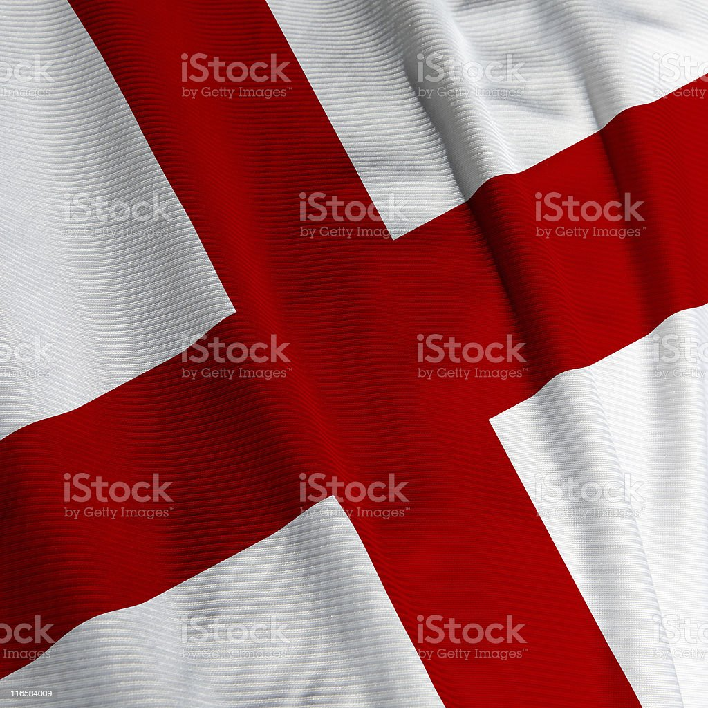English Flag Closeup stock photo