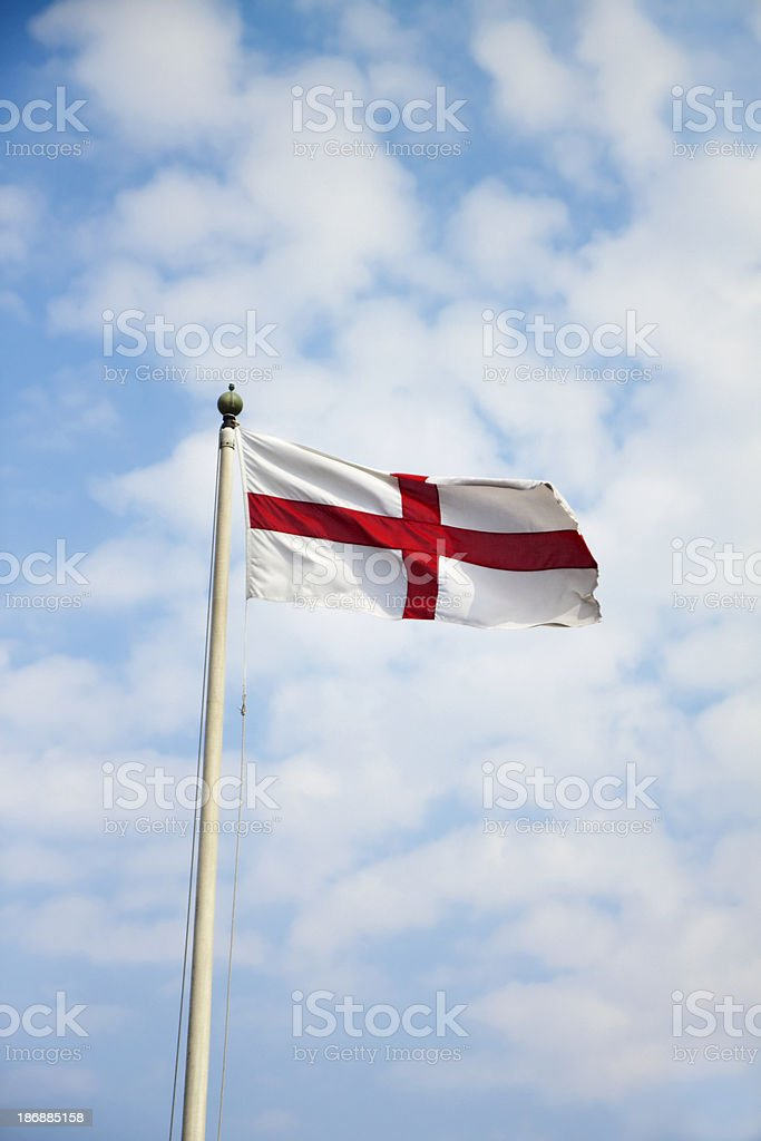 English flag of St George royalty-free stock photo