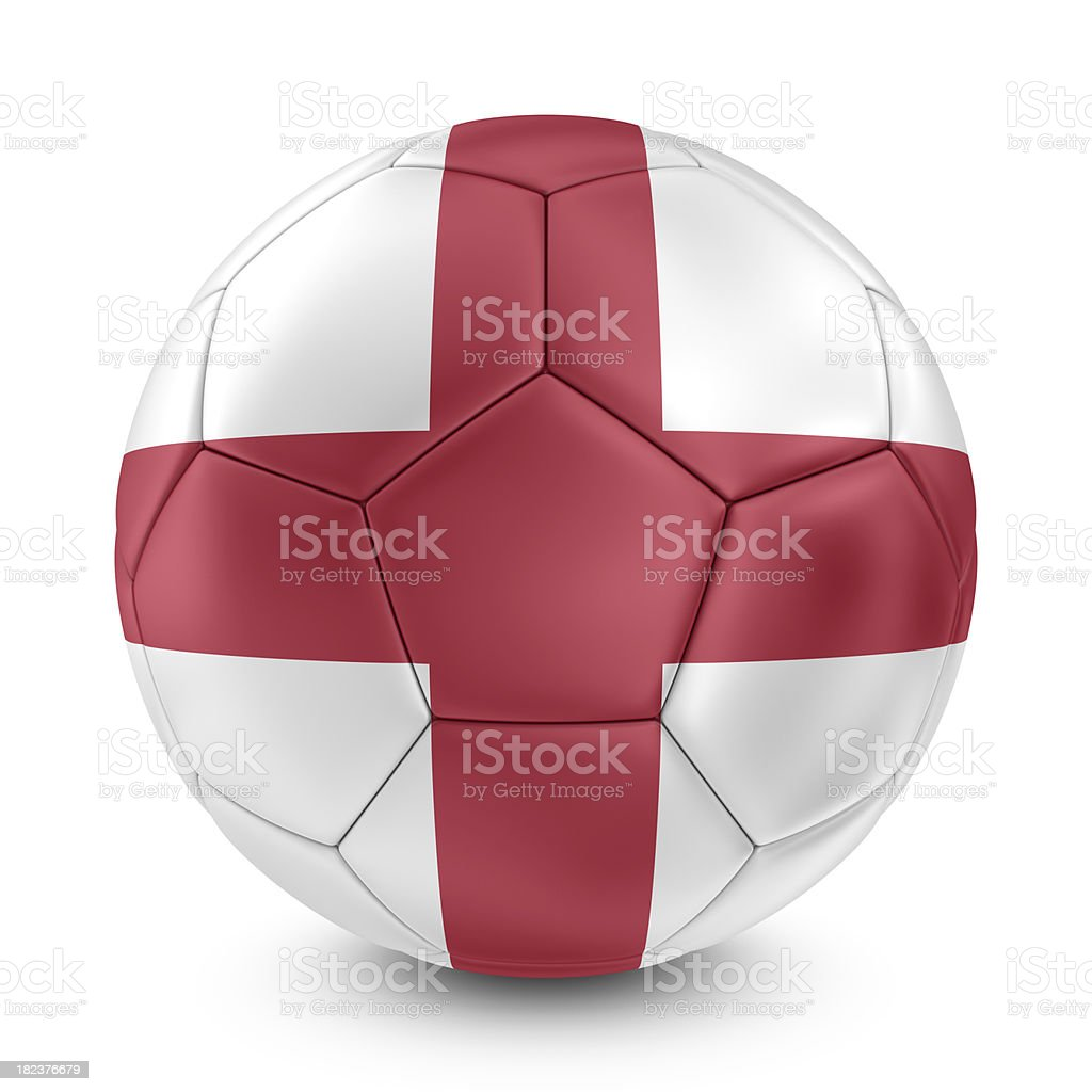 english flag on football royalty-free stock photo