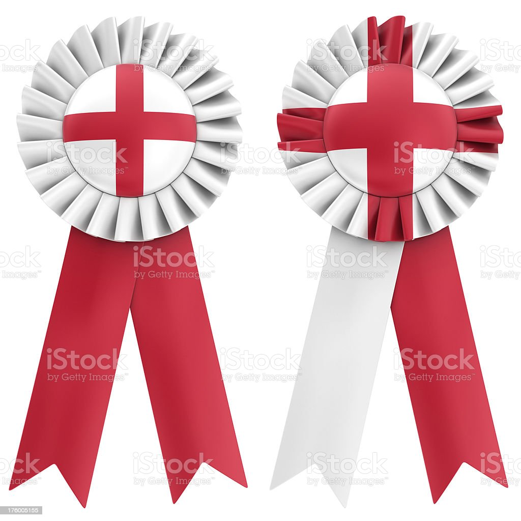 english flag on ribbon royalty-free stock photo