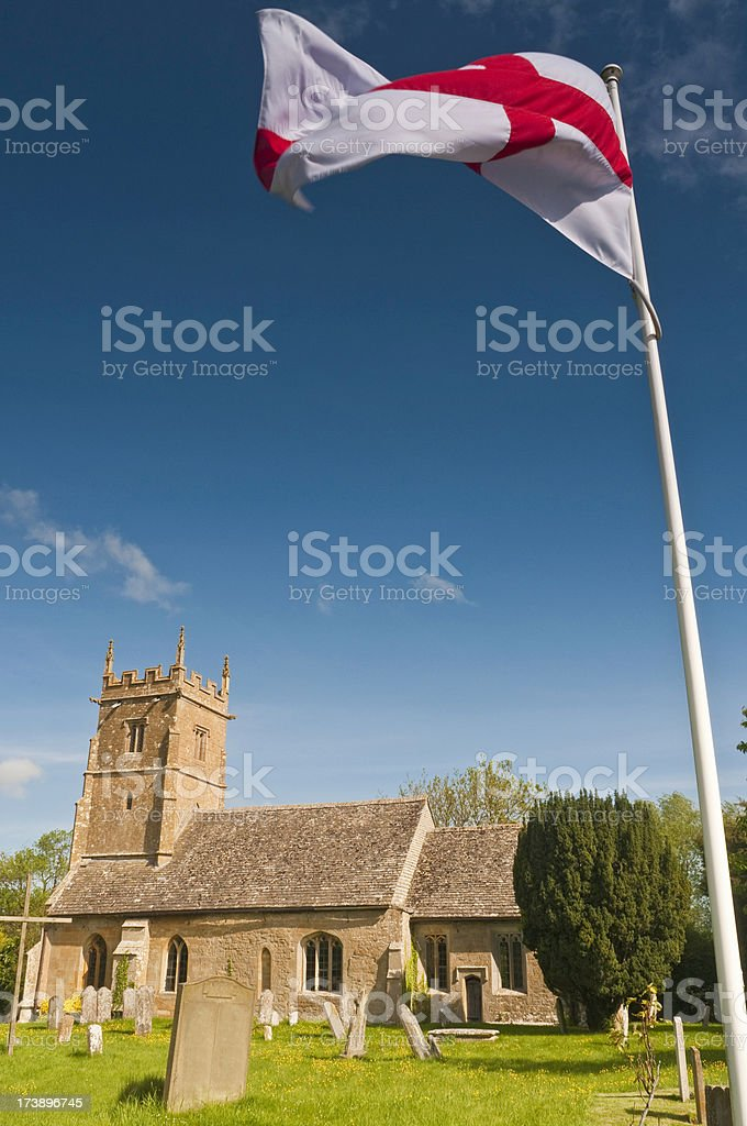 English flag summer churchyard royalty-free stock photo