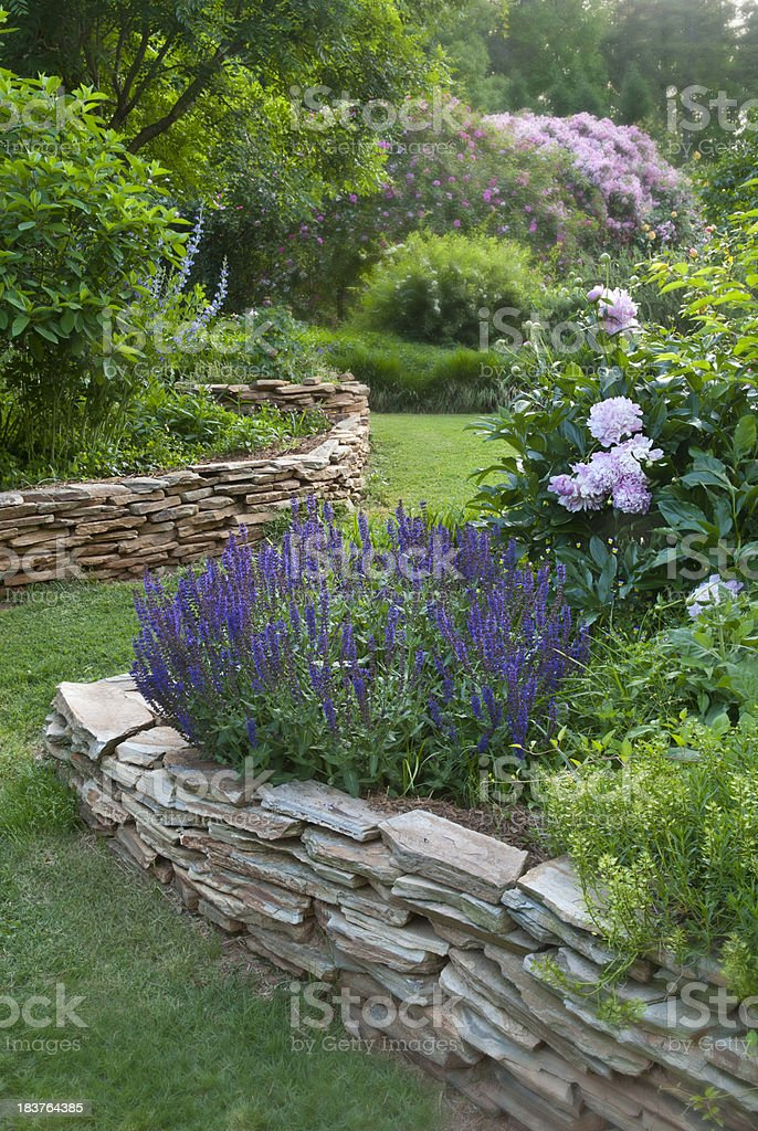 English Flower Garden stock photo