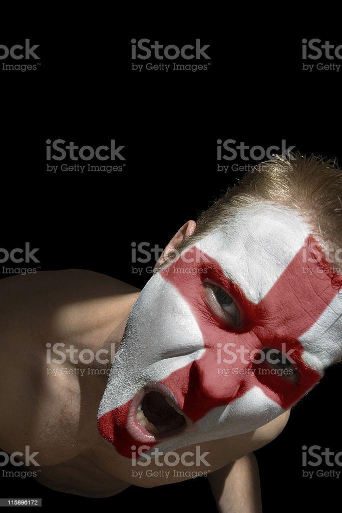 English footy fan stock photo
