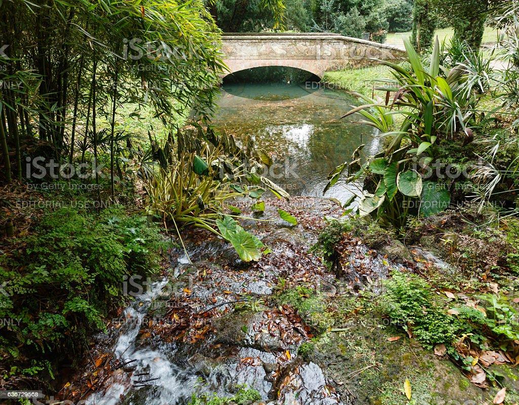 English Garden at Caserta. stock photo