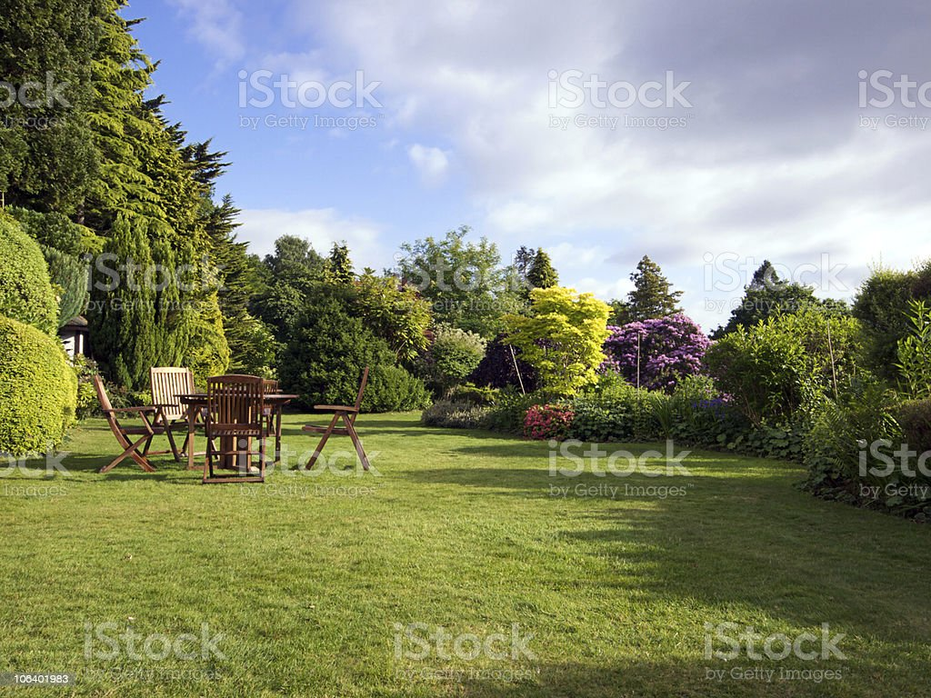 English Garden stock photo