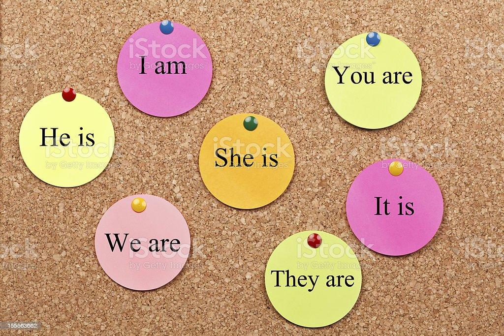 English Grammar royalty-free stock photo