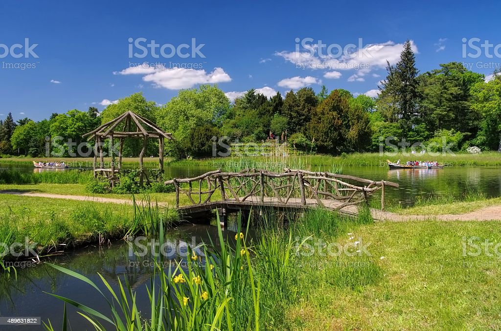 English Grounds of Woerlitz lake stock photo